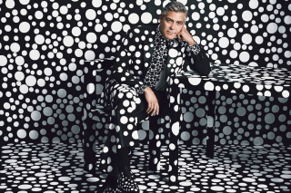 George Clooney Creative Photo Wallpaper for Android, iPhone and iPad
