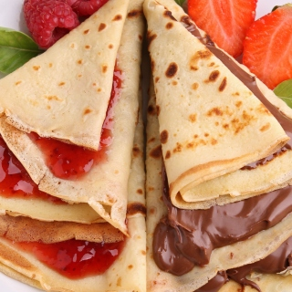 Most delicious pancakes with jam Background for LG KP105