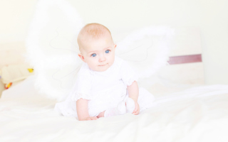 Baby Angel Wallpaper for Android, iPhone and iPad