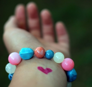Heart And Colored Marbles Bracelet Picture for 1024x1024