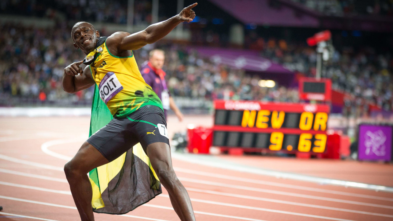 Das Usain Bolt won medals in the Olympics Wallpaper 1280x720