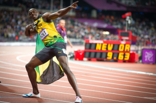 Usain Bolt won medals in the Olympics Background for Android, iPhone and iPad