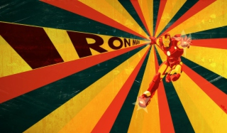 Retro Ironman Art Background for Android, iPhone and iPad
