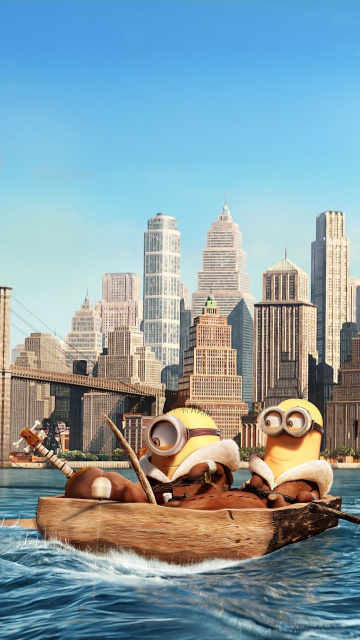 Das Minions in New York Wallpaper 360x640
