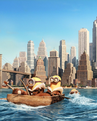 Minions in New York sfondi gratuiti per iPhone 4