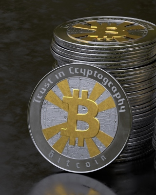 Kostenloses Bitcoin Blockchain, Trust in Cryptography Wallpaper für Nokia Lumia 925