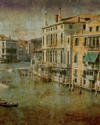 Free Venice Retro Card Picture for Nokia Asha 300
