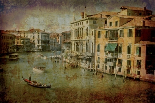 Venice Retro Card Picture for Android, iPhone and iPad