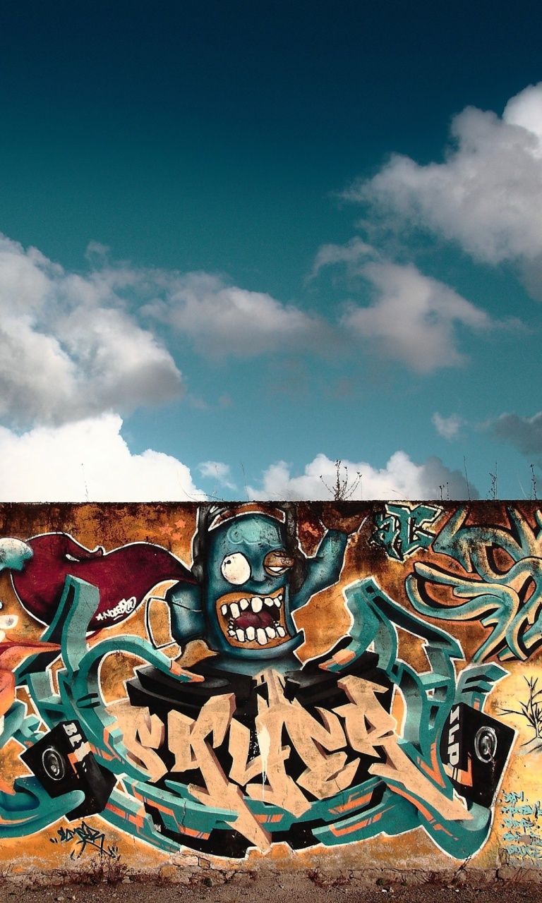 Das Graffiti Street Art Wallpaper 768x1280