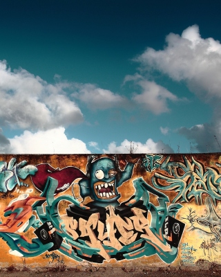 Graffiti Street Art Background for Nokia Asha 311
