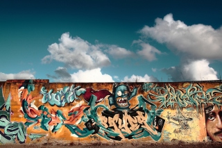 Graffiti Street Art Background for 960x800