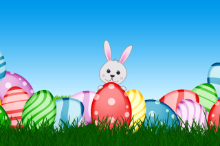 Easter bunny Wallpaper for Android, iPhone and iPad