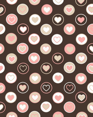 Pink Hearts Picture for iPhone 6