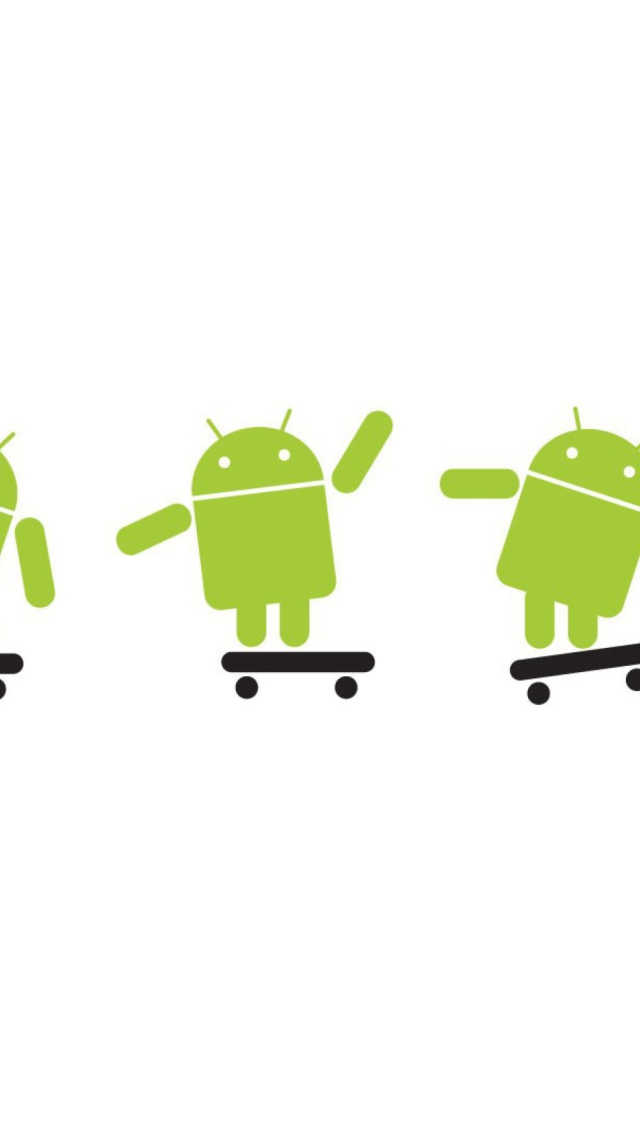 Android Skater wallpaper 640x1136