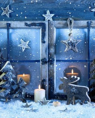 Christmas Window Decorations Background for Nokia C1-01