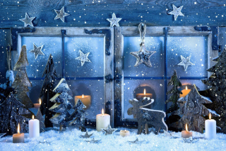 Christmas Window Decorations Background for Android, iPhone and iPad