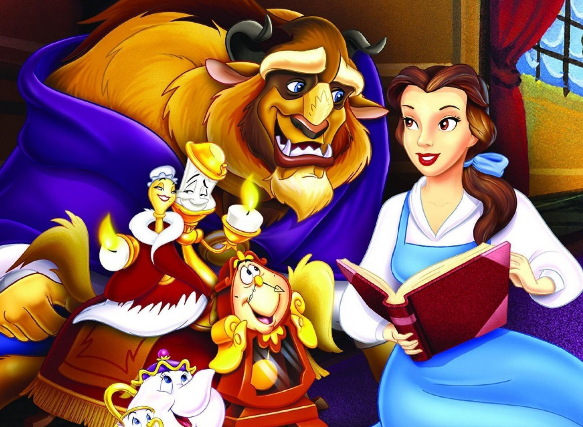 Screenshot №1 pro téma Beauty and the Beast with Friends 1920x1408