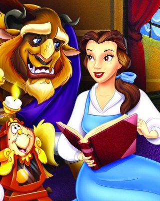 Beauty and the Beast with Friends - Obrázkek zdarma pro 128x160