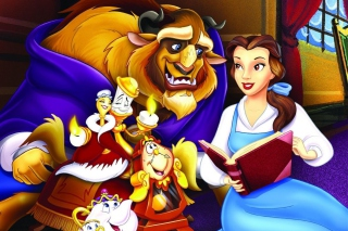 Beauty and the Beast with Friends Background for Android, iPhone and iPad