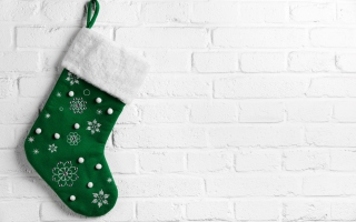 Green Christmas Stocking - Fondos de pantalla gratis