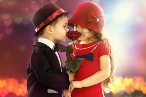 Cute Kids Couple With Rose para Samsung S5367 Galaxy Y TV