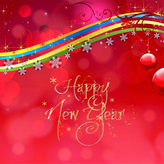 Happy New Year Red Design - Fondos de pantalla gratis para iPad 2