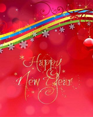 Kostenloses Happy New Year Red Design Wallpaper für Nokia Lumia 925