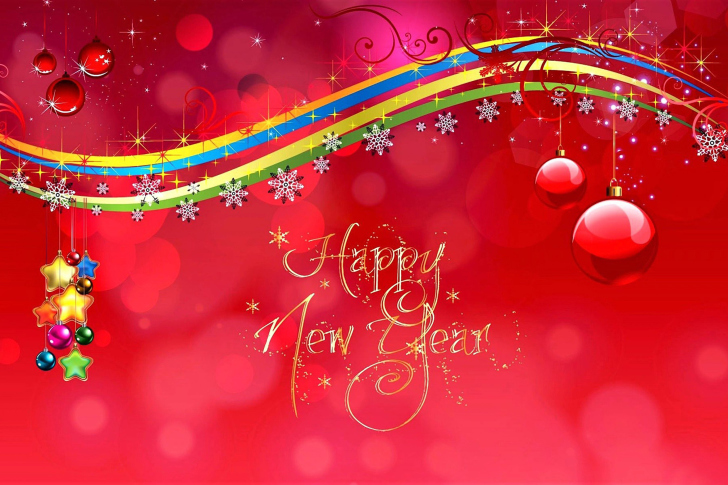 Happy New Year Red Design wallpaper