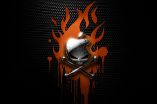 Apple On Fire Background for Android, iPhone and iPad