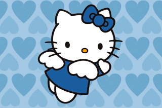 Hello Kitty Blue Background for Desktop 1280x720 HDTV