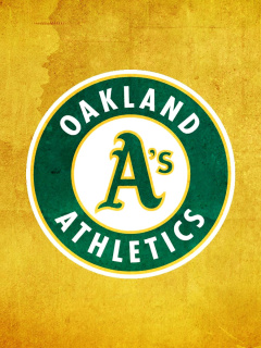 Screenshot №1 pro téma Oakland Athletics 240x320
