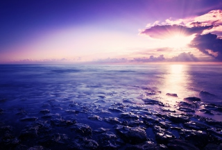 Sunrise Above Sea Wallpaper for 480x400