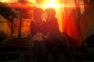 Anime Kiss Picture for Android, iPhone and iPad