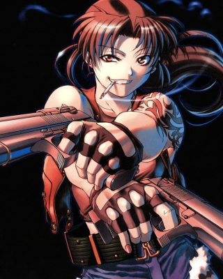 Black Lagoon Anime Revy Pirates Background for 240x320