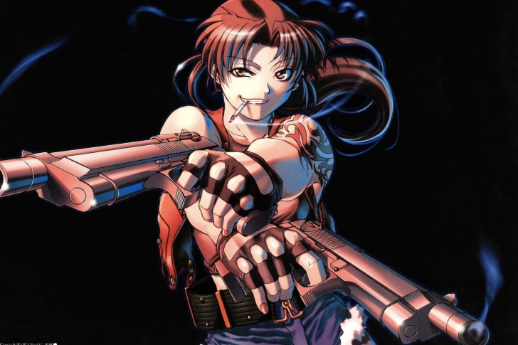 Screenshot №1 pro téma Black Lagoon Anime Revy Pirates