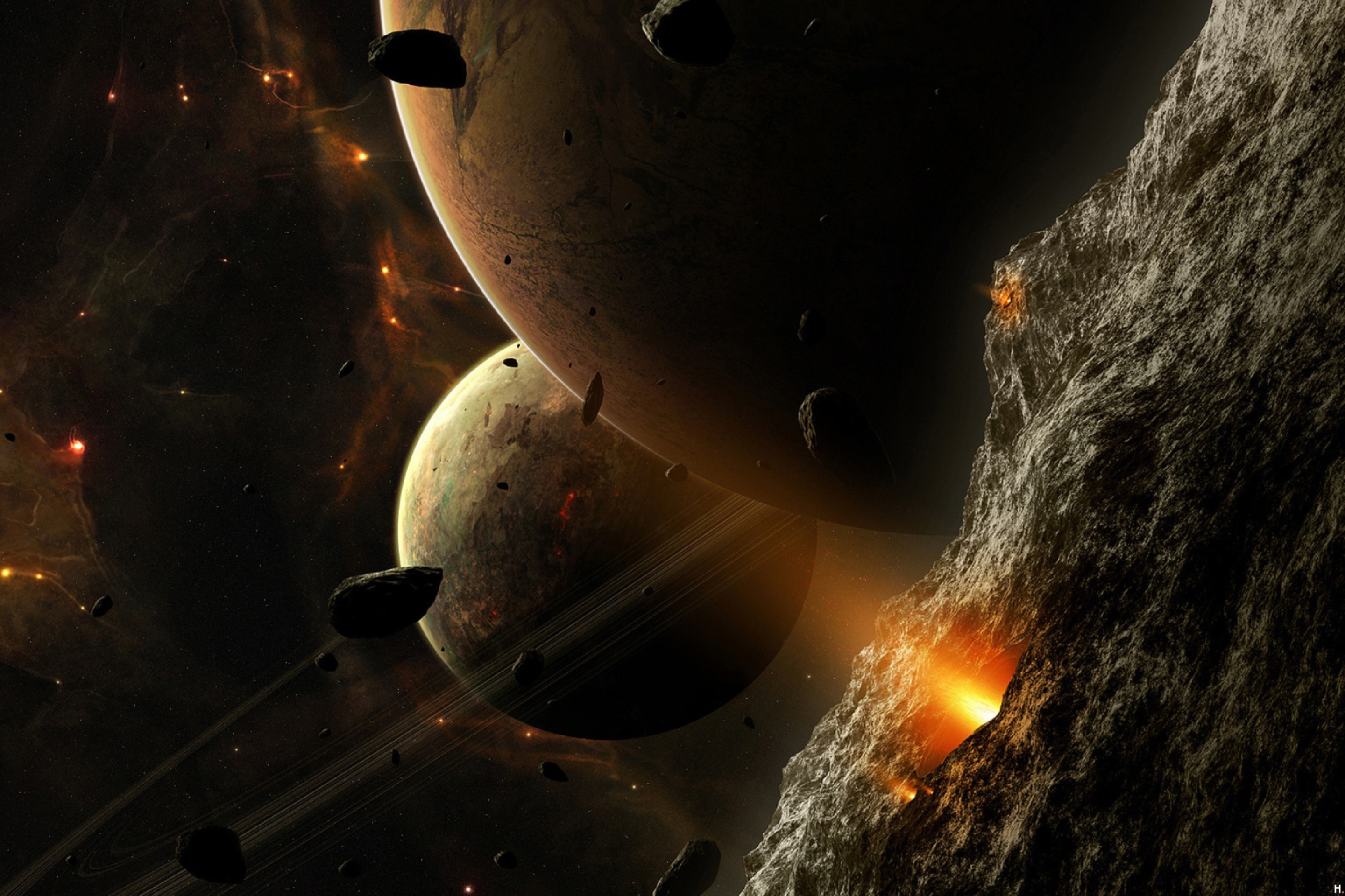 asteroid planet game - HD 2880×1920