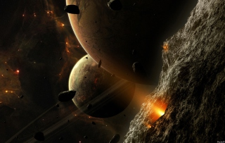 Free Asteroids And Planets Picture for Android, iPhone and iPad