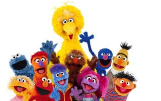 Sesame Street A-B-C Background for Android, iPhone and iPad