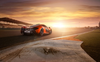 2013 Mclaren P1 At Bahrain Picture for Android, iPhone and iPad