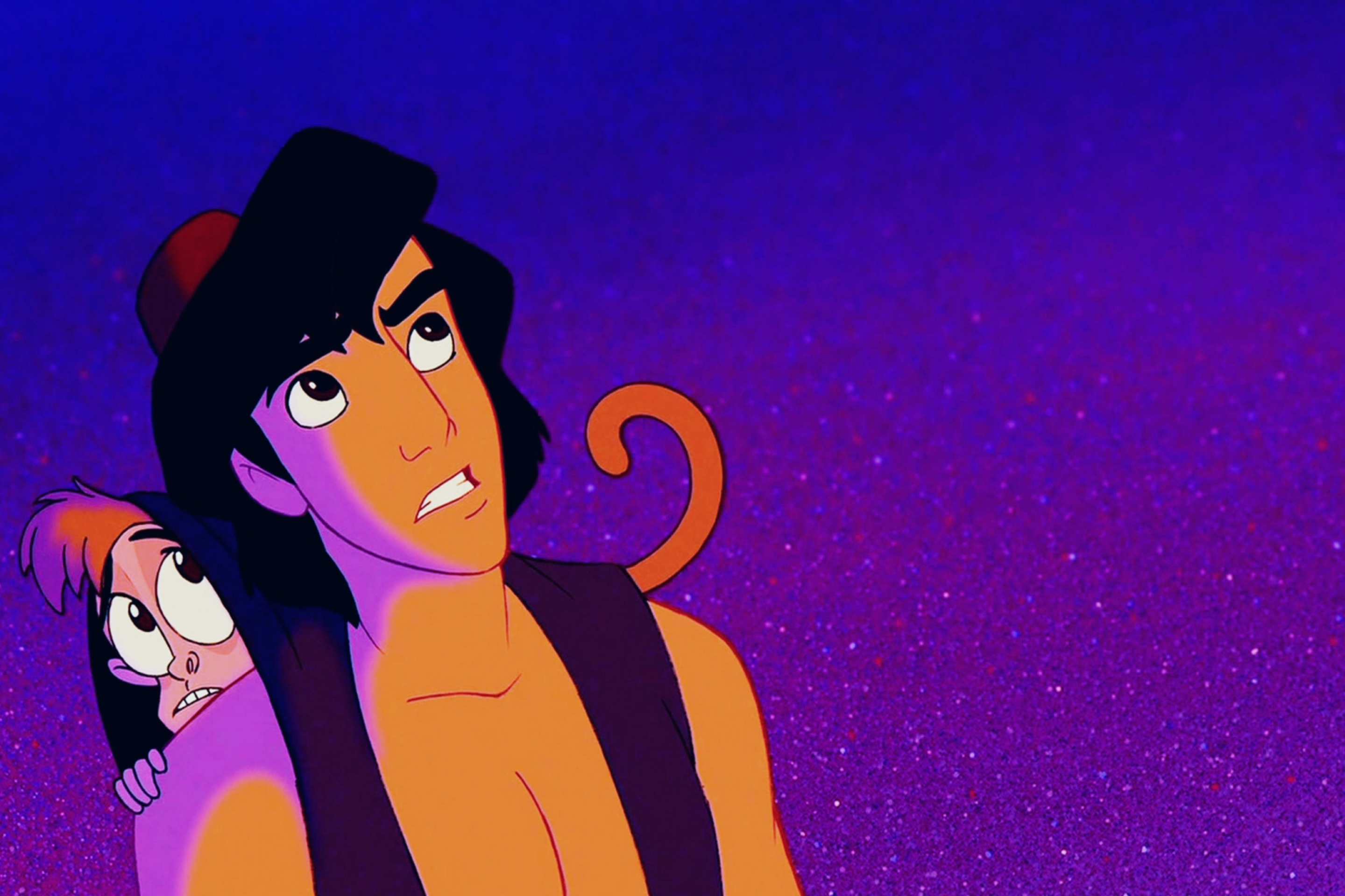 Aladdin is the protagonist of the 1992 Disney animated feature film of the same name He was an audacious and spirited street rat living in the kingdom of Agrabah