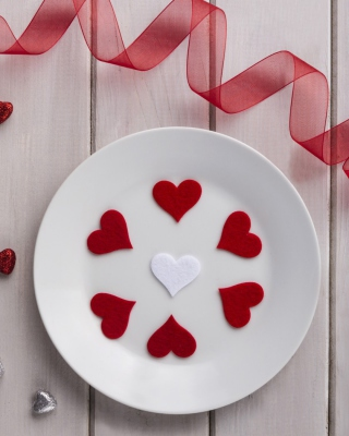 Romantic Valentines Day Table Settings sfondi gratuiti per iPhone 6