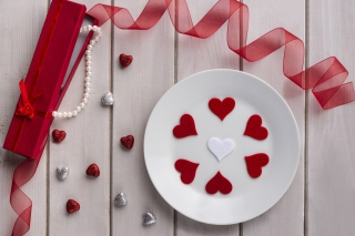 Free Romantic Valentines Day Table Settings Picture for Android, iPhone and iPad