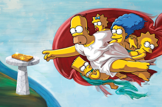 Simpsons HD Background for Samsung Galaxy Ace 4