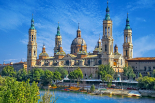 Basilica of Our Lady of the Pillar, Zaragoza, Spain sfondi gratuiti per 1080x960