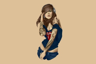 Rocker girl Wallpaper for Android, iPhone and iPad