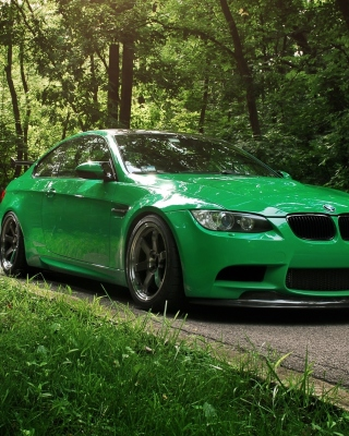 Green BMW Coupe Picture for 320x480
