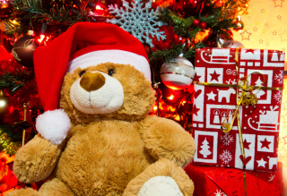 Christmas Teddy Bear Wallpaper for Android, iPhone and iPad