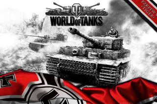 World of Tanks with Tiger Tank - Obrázkek zdarma pro Sony Tablet S