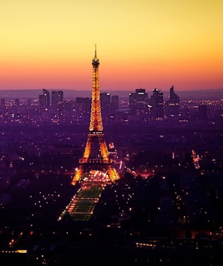 Eiffel Tower And Paris City Lights Background for 768x1280
