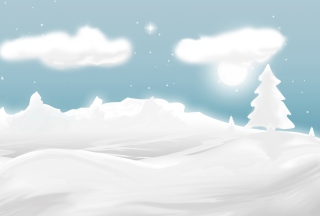 Winter Illustration Background for Android, iPhone and iPad